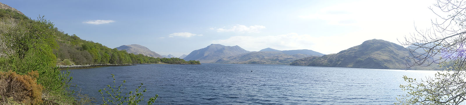 view up loch etive from craig