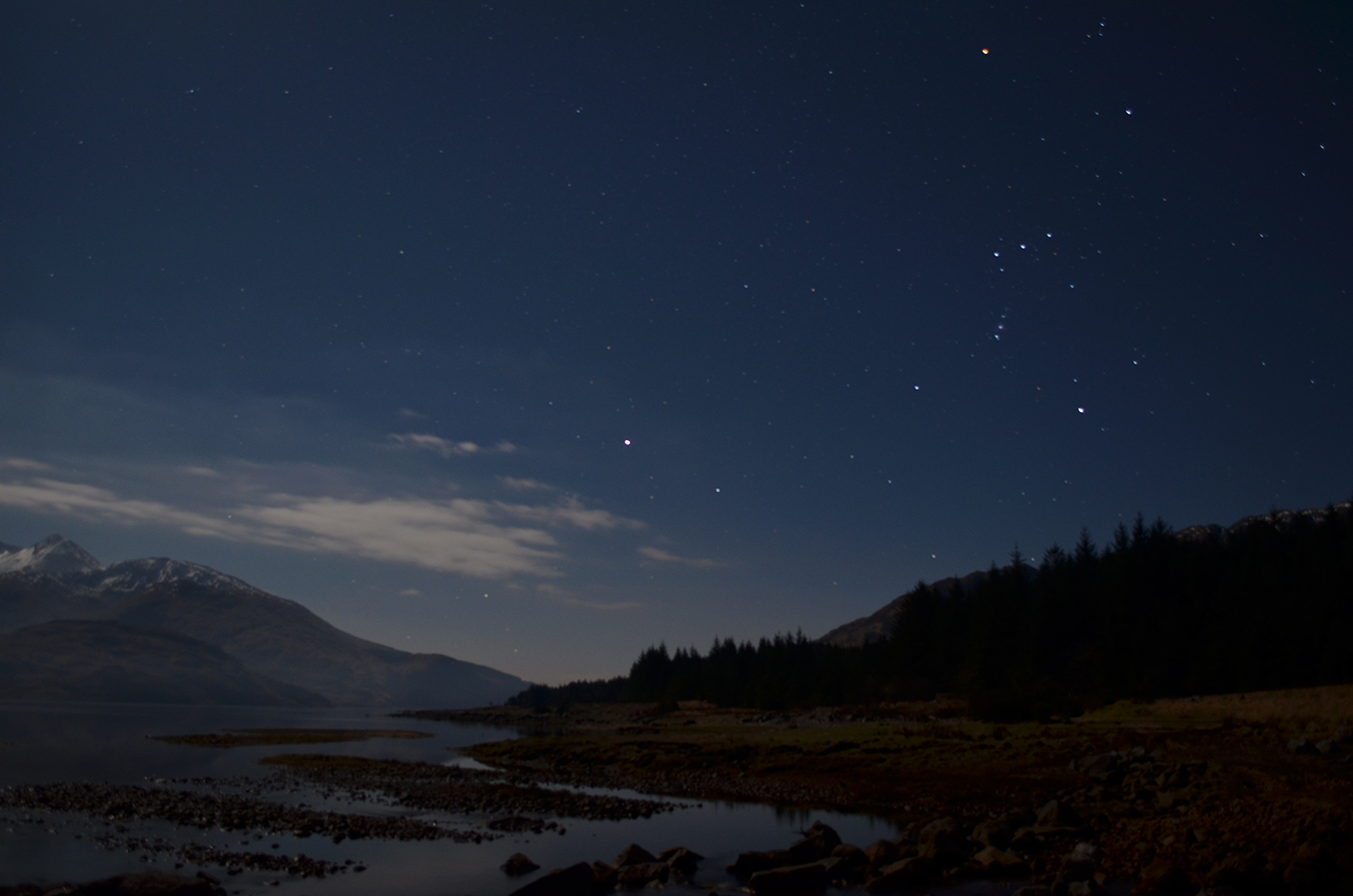 orion over loch etive